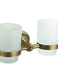 зуб щетки, дважды Кубок античная латунь цвет алюминиевый материал, вспомогательное оборудование ванной комнаты