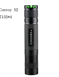 LT- XML-T4-7C-S2  5Modes Cree XR-E Q5 LED Flashlight(700LM,1×18650,Black)
