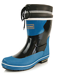 Men's Shoes Casual Rubber Boots Blue/Yellow