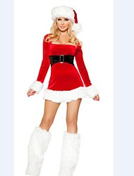 Long Sleevless Slim Adult Woman's Christmas  Costume