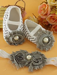 Girls' Shoes First Walker Flat Heel Cotton Flats with Flowers