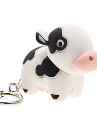 LED Lighting / Key Chain Cow Cartoon Key Chain / LED Lighting / Sound White ABS