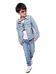 mode casual frais taureau-perforateur manteau de garçon