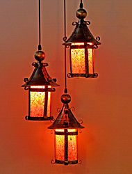Luxury Mosaic Glass 3 Light Pendant