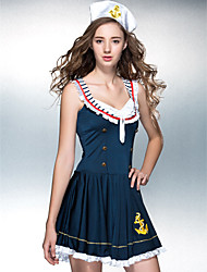 Dancewear Women's Polyester Sexy Sailor Costume With Hat