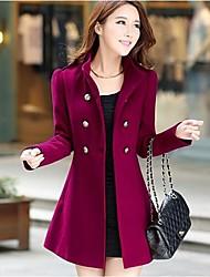 YIBEIER®  Women's Casual Tweed Wool Coat