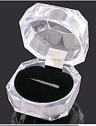 transparent boîte de bague en cristal acrylique de femmes