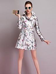 MPK ™ moda casaco de tweed trincheira das mulheres