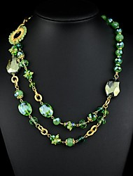 Bohemian Style Gemstone Beads Strands Necklaces (Hualuo Jewelry)