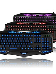 RAJFOO Nighthawk Ruiz Edition Multimedia Gaming Keyboard Tricolor Luminous Color