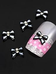 10pcs blanc double arc avec ligne noire nail art décoration