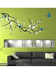 JiuBai® Flower Tree And Birds Wall Sticker Wall Decal