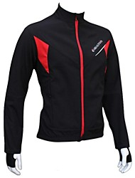 Realtoo® Unisex Winter Fleeced Windproof And Waterproof  Warmer Long Sleeve Cycling Jacket-Black+Red