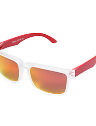Sunglasses Men / Women / Unisex's Fashion / Polarized Rectangle Black / Red Sunglasses Full-Rim