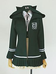 Вдохновлен Dangan Ronpa Chiaki Nanami видео Игра Косплэй костюмы Косплей толстовки Однотонный Зеленый ДлинныеПальто / Рубашка / Юбки /