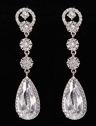 Silver Platinum Plating Drops Earrings