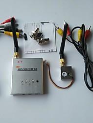FPV 2.4G 100mW 4 canaux sans fil av audio vidéo récepteur tranmsitter