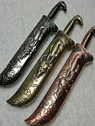 Creative Sword Style Windproof Metal Butane Jet Gas Lighter