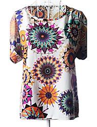 Women's Print Shirt , Casual/Print Short Sleeve