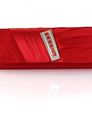 Silk Wedding / Special Occasion Clutches / Evening Handbags with Rhinestones