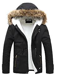 Мужское модное пальто с карманами
