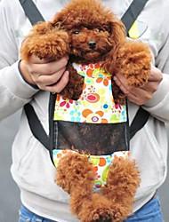 Gato / Cachorro frente Backpack Animais de Estimação Cestos Portátil Multi-Côr Tecido