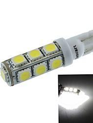 t10 (149 168 W5W) 6.5W 13x5060smd 480-560lm 6500-7500k lumière blanche pour feu de stationnement éclairage de la voiture (dc12-16v)