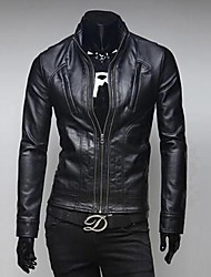 INMUR Men's Collar Locomotive Leather Jacket
