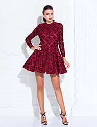 Homecoming Cocktail Party/Holiday/Prom Dress - Ruby Plus Sizes A-line/Princess Jewel Short/Mini Lace/Satin