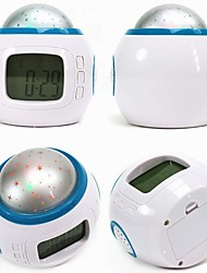 Fashion Star Dazzle Colour Projection Luminous LED Alarm Clock