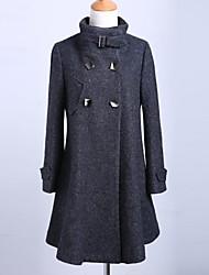 sete trimestre Jansa ™ casaco de lã manga das mulheres