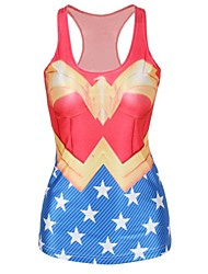 Cosplay Costumes / Party Costume Super Heroes Festival/Holiday Halloween Costumes Red / Blue Print Top Halloween Female Lycra / Polyester
