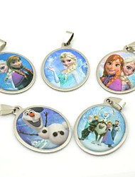 Frozen Olaf Snowman Ann Princess Keychains Pendants (5pcs / lot)