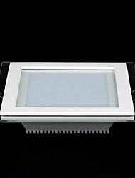 12w cuadrado máscara de cristal llevó el panel ligero SMD 5730 de mini lámpara de la cocina llevó las luces del techo ac85-265v