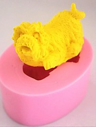 Dog Fondant Cake Chocolate Silicone Mold Cake Decoration Tools,L5.4cm*W4.3cm*H3cm
