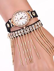 sete menina das mulheres todos relógio jogo pulseira borla diamante
