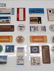 23 piecs bricolage papier album timbres autocollants vintage album voyagent b forme