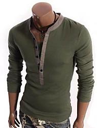 мода с длинным рукавом круглым воротом футболки