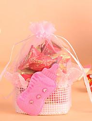 cesta com laço favor mamadeira bag-conjunto de 12 (mais cores)
