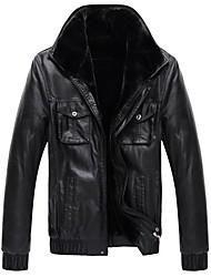 chaqueta de cuero de la piel de los hombres