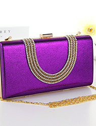 Women Formal/Event/Party/Wedding/Office & Career Other Leather Type Button Shoulder Bag/Clutch/Evening Bag/Money Clip