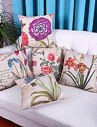 ensemble de 5 vif motif de fleur polyester taies d'oreiller décoratif