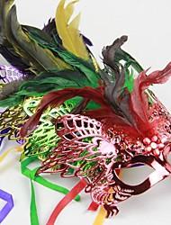 Christmas Masquerade Party Mask - Eagle Color Random (Set of  6)