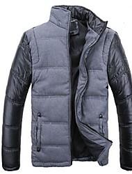 Men's Korean Style Stand Stitching Coat