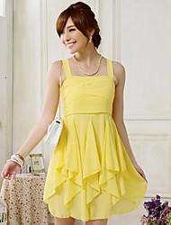 Women's Black/Yellow/Purple Dress , Sexy/Casual/Cute/Work Sleeveless
