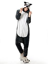 Kigurumi Pijamas Guaxinim / Urso Malha Collant/Pijama Macacão Festival/Celebração Pijamas Animal Cinzento Miscelânea FlanelaFantasias de