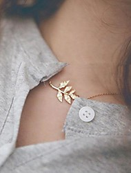 Women's Choker Necklaces Alloy Leaf Fashion Simple Style Jewelry Daily 1pc