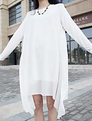 vestido de maternidad irregular cuello redondo de las mujeres (más colores)