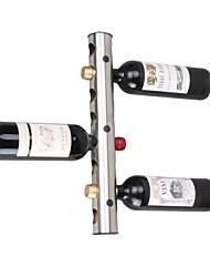 stile contemporaneo in acciaio inox 8 fori cremagliera del vino