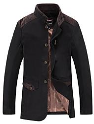 homens smr lapela pescoço tudo combinando casaco cor sólida